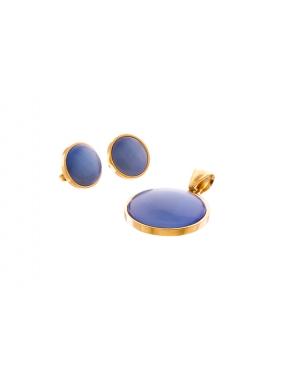 Juego Fretsa Acero 3p Piedra Azul