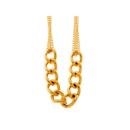 Collar Fretsa Acero eslabones Baño oro