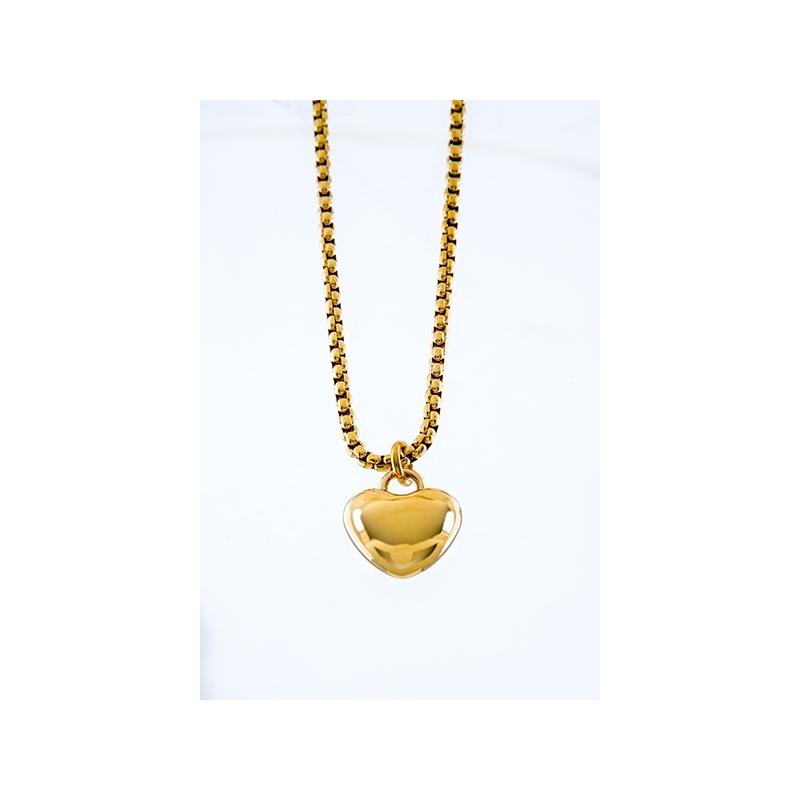 mejor sitio web d2101 c4f29 Collar Fretsa corazon Acero dorado - Fretsa